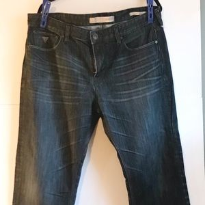 GUESS Relaxed Riverfront Jeans Dark Wash Sz 36X30